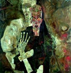 Schiele Un homme et la mort 1911.jpg