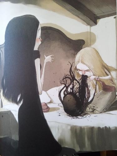 tony sandoval,le serpent d'eau,paquet,calamar,bd,roman graphique,coup de coeur,mort,rêve,attirance,sensualité,masque,renard,lapin,dent,combat,roi,poulpe